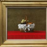 山下徹 「カゴの果実」 油彩 F8 写実絵画