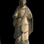 古い聖人像 木製 キリスト教美術 アンティーク